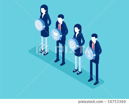 Economy teamwork. Concept business isometric 58753369
