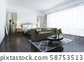 3d rendering beautiful classic luxury bedroom suite in hotel with tv 58753513
