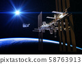 Commercial Spacecraft And International Space Station In The Rays Of Sun 58763913