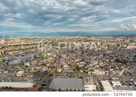 Niigata Cityscape from Above, Japan 58769790