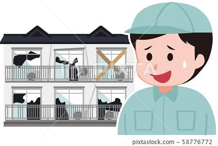 老公寓和工作服的工作者 58776772