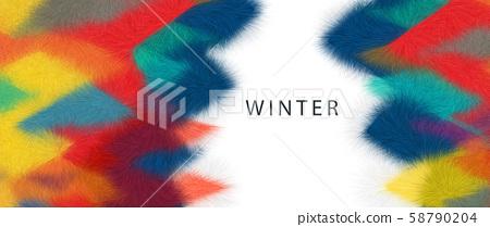 抽象的五顏六色的毛茸茸的三角形幾何背景 58790204