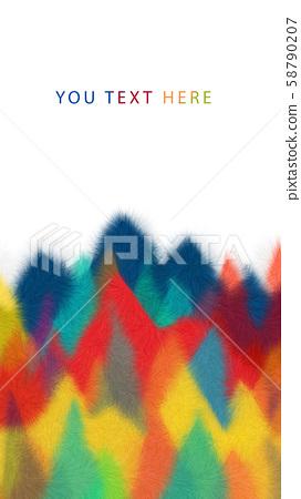 抽象的五顏六色的毛茸茸的三角形幾何背景 58790207