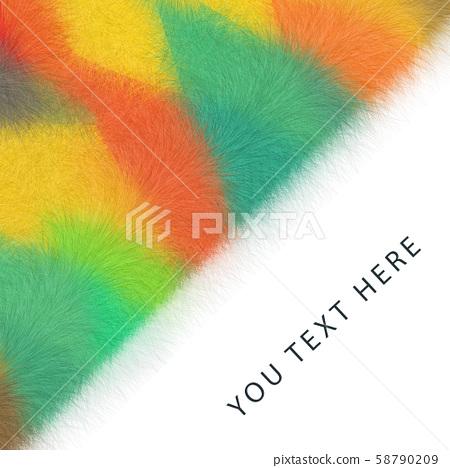 抽象的五顏六色的毛茸茸的三角形幾何背景 58790209