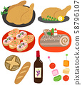 Christmas dish food chicken cake 58796107