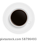 Realistic illustration of a white porcelain cup of 58796493