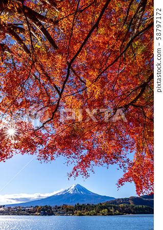 ภูเขาฟูจิในฤดูใบไม้ร่วง 58797172