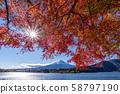 Mt. Fuji autumn leaves 58797190