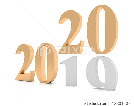 New year 2020 ,3d rendering 58801288
