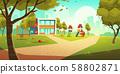 Kindergarten kids playground, empty children area 58802871