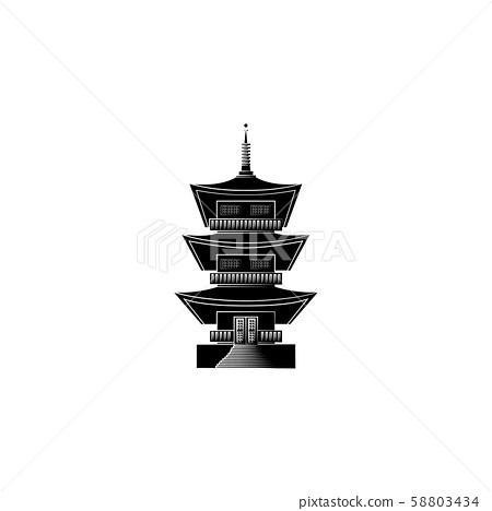 World Attractions. Temple of Kofuku-Dzi in Japan. Japanese temple
