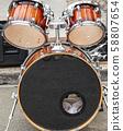 Close up of drum set outdoors 58807654