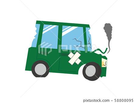 Total loss accident breakdown trouble broken scrap car accident 58808095