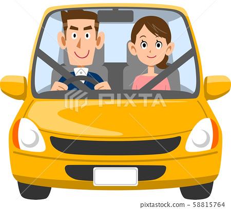 夫婦乘汽車出去 58815764