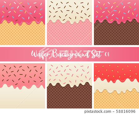 Set of strawberry cream and chocolate wafer 58816096