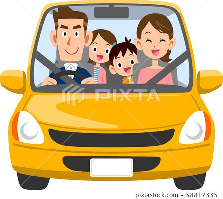 開車出門的家庭 58817335