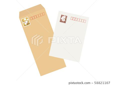 明信片和信封63日元邮票84日元邮票 58821107