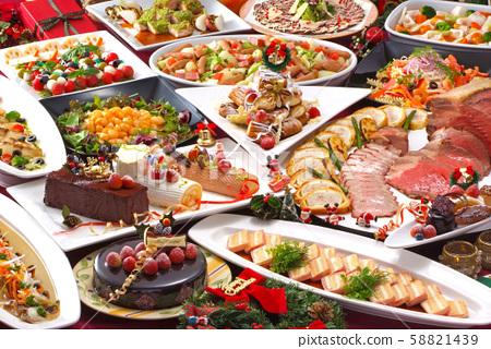크리스마스 뷔페 크리스마스 파티 크리스마스 뷔페 파티 뷔페 즐거운 크리스마스 58821439