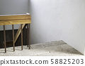 Staircase inside the house with cement floor 58825203