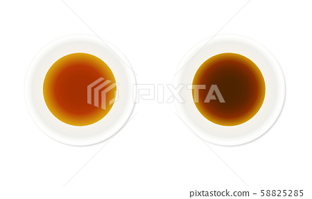 Illustration set of dark soy sauce and thin soy sauce 58825285