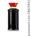 soy sauce bottle isolated 58829942