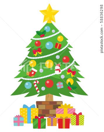 聖誕樹和禮物盒 58836298