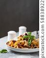 Traditional Italian dish pasta alla norma 58838922