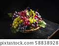 Mix of red and yellow grape 58838928