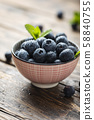 Fresh sweet blueberries 58840755