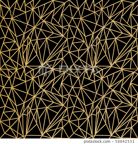Abstract gold geometric shapes seamless pattern 58842531