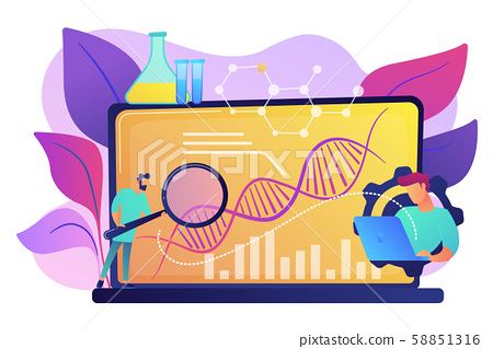 Biotechnology concept vector illustration. 58851316