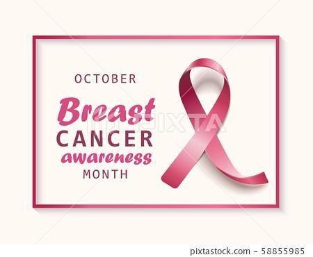 October Breast Cancer Awareness Month Banner Stock Illustration 58855985 Pixta