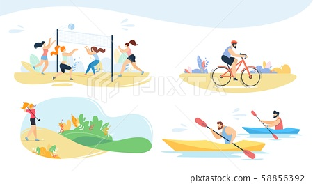 Active Recreation, Sport and Outdoor Games Set 58856392