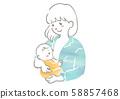 母亲母乳喂养婴儿的插图 58857468