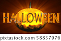 Halloween Creepy 3D Illustration with Text 58857976