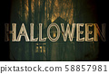 Halloween Creepy 3D Illustration with Text 58857981