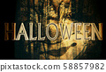 Halloween Creepy 3D Illustration with Text 58857982