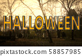 Halloween Creepy 3D Illustration with Text 58857985