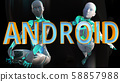 Android Future Concept 3D Illustration 58857988
