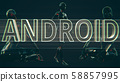 Android Future Concept 3D Illustration 58857995