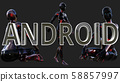 Android Future Concept 3D Illustration 58857997