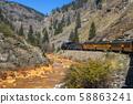Historic steam engine train in Colorado, USA 58863241