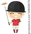 Kid Girl Polo Helmet Illustration 58868876