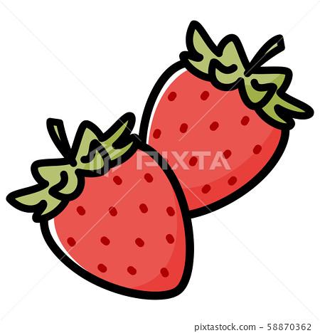 Strawberry Cartoon Stock Illustration 58870362 Pixta