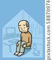 Illustration | Older People | Solitude | Grandfather | Background Ant 58870974