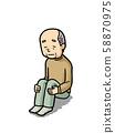 Illustration | Older People | Solitude | Grandfather | Background Pear 58870975