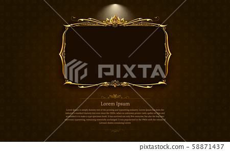 Thai art frame border pattern vector illustration 58871437