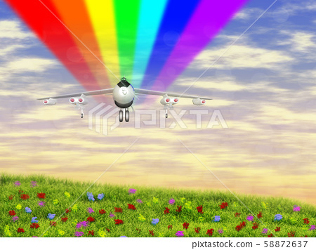 Airplane in the Sky 58872637