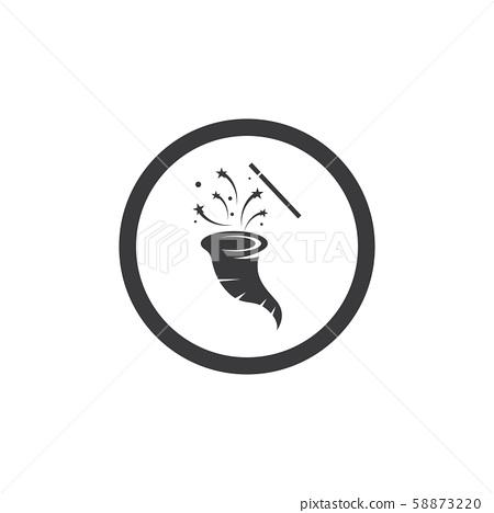 Wand Magic hat icon vector 58873220