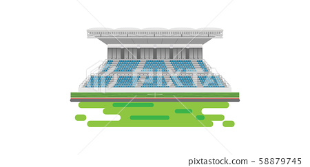 Sport stadium grandstand to cheering sport 58879745